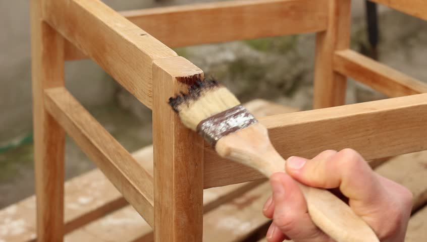 Furniture Restoration. Priming, Varnishing Wood Furniture Stock Footage  Video 14389912 | Shutterstock