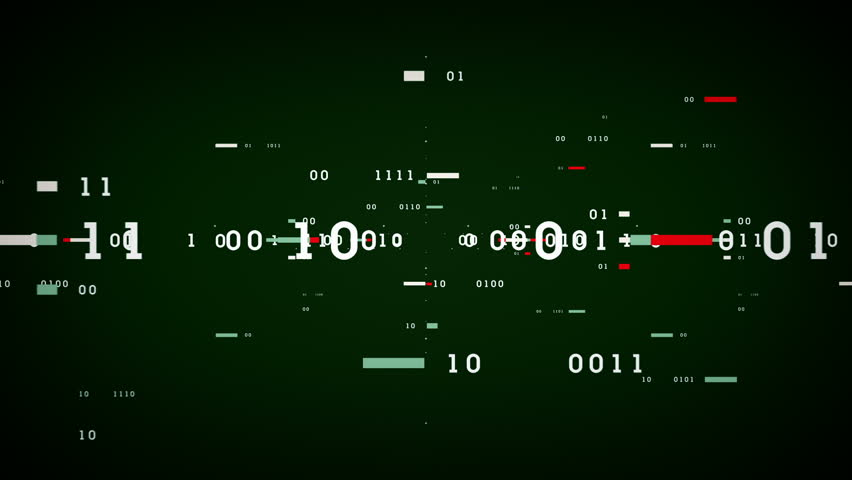 Binary Data Bits - Binary numbers and data passing through cyberspace. This clip is available in multiple color options and loops seamlessly. | Shutterstock HD Video #14396872
