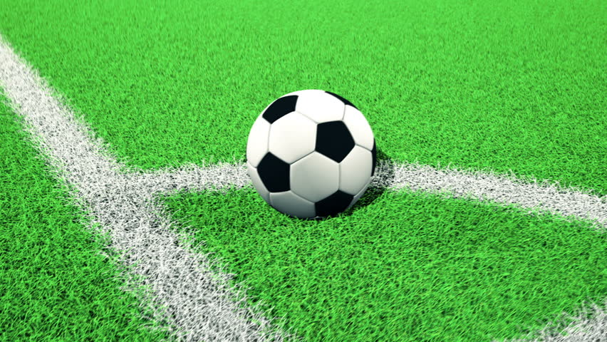 Soccer Ball Rolling On Green Grass Stock Footage Video ... Rolling Soccer Ball Picture