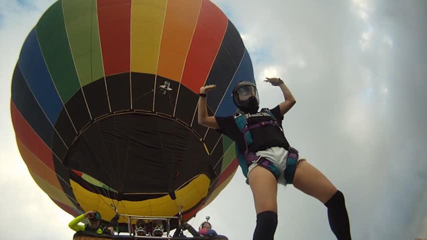 Skydiving Hot Air Balloon