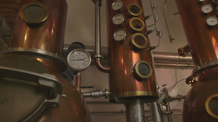 An old Whiskey Distilliery - original footage, not color corrected, shot on Canon C300 with Canon Log, good for color grading - no people