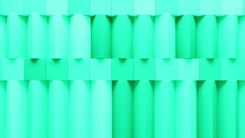 Abstract rectangular and box elements background with randomly rotated elements, 3d render or boxes and rectangles with fillet edges, loopable | Shutterstock HD Video #14550592