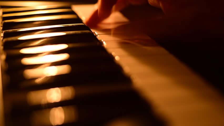 Beautiful Rack Focus Shot Of A Piano In Golden Late Evening ...