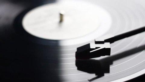 Vinyl record rotating
