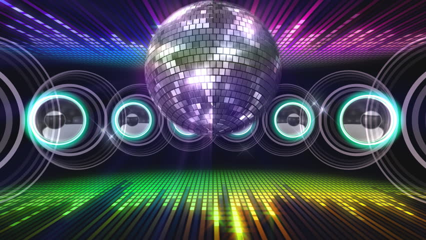disco and club space background stock footage video