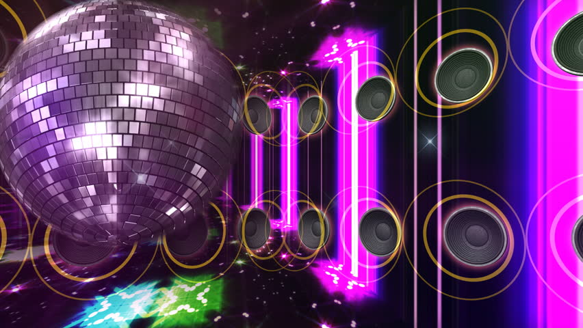 Disco and Club Space background.