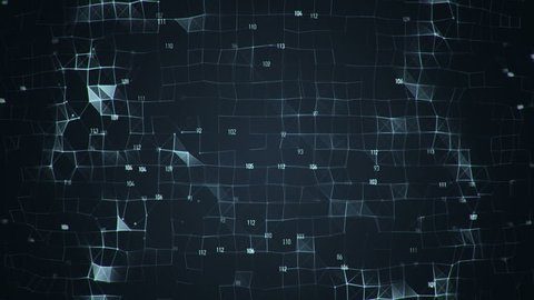 Abstract background with animation ripple on  surface of technology network. Animation of seamless loop.