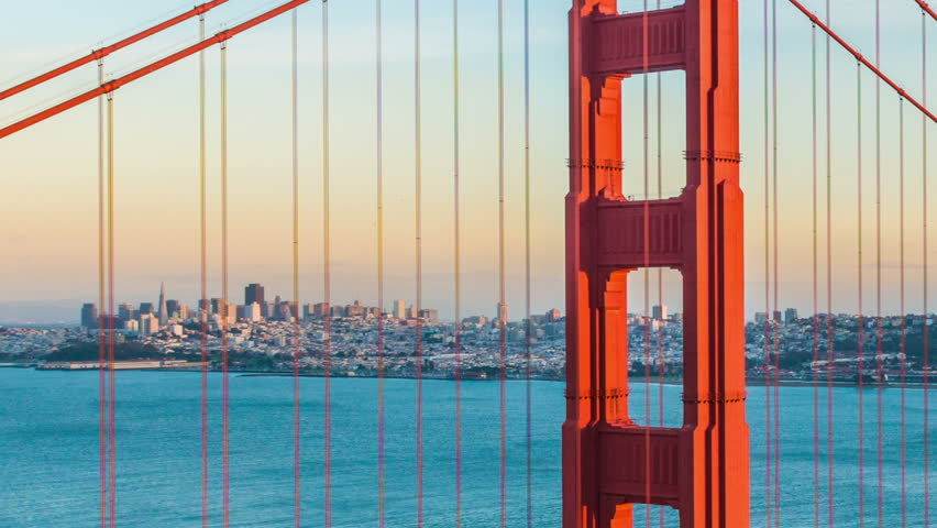 Time-lapse for Sunset at Golden Gate Bridge, San Francisco | Shutterstock HD Video #14627212