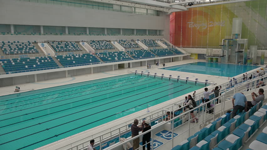 beijing china 14 september 2015 people visit the olympic swimming pool inside the - Olympic Swimming Pool 2014