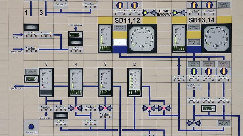 Remote control power plant. Energy. Episode (4 shot) HD