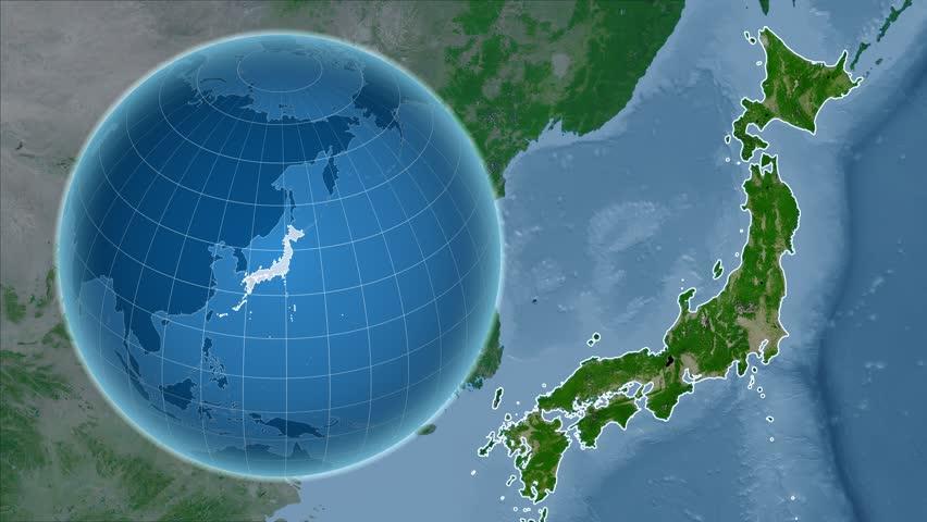 New Zealand Shape Animated On The Satellite Map Of The Globe Stock