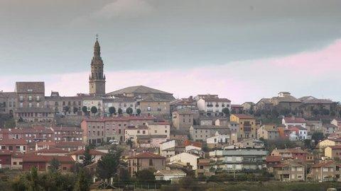Time lapse village in La Rioja spain