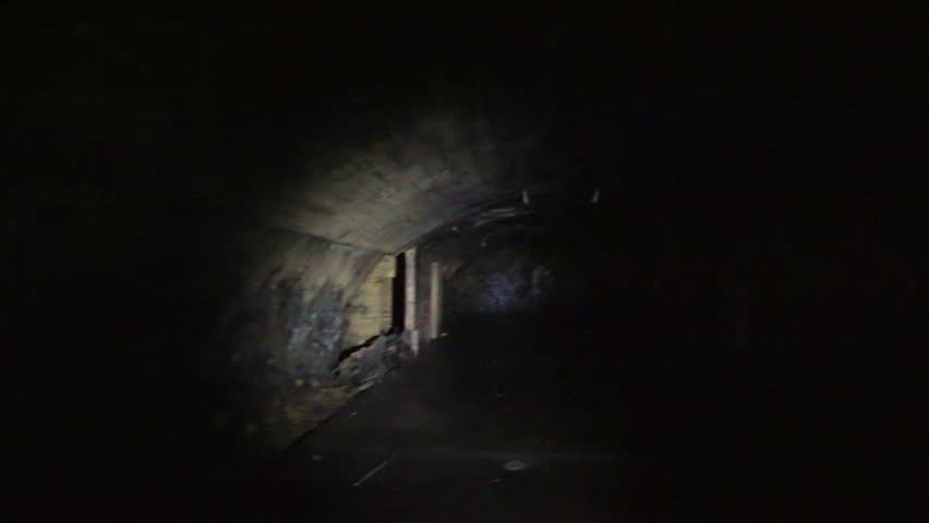 Caves of finnish fortified region that was built in 1942 during the World War 2 in Medvezyegorsk, northern Russia. | Shutterstock HD Video #14735542
