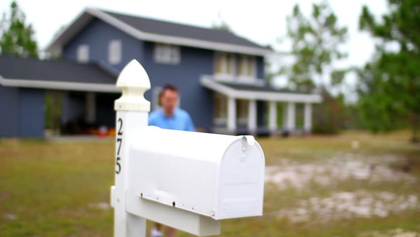 Checks By Mail >> Man Checks His Mail Video Clip Hd Footage Bigstock