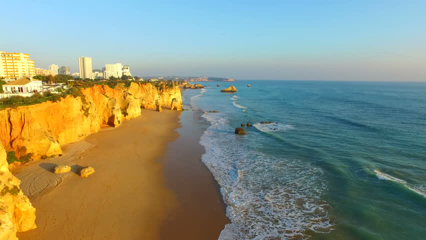 Aerial From Famous Beach Praia Stock Footage Video 100 Royalty Free 14905252 Shutterstock