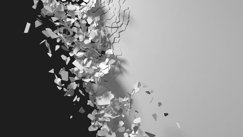 Breaking wall, scattering in the wind | Shutterstock HD Video #14917972