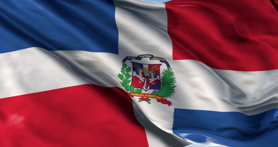 flag of dominican republic beautiful 3d animation of dominican