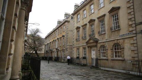 City of Bath, cobbled street,  England, Europe