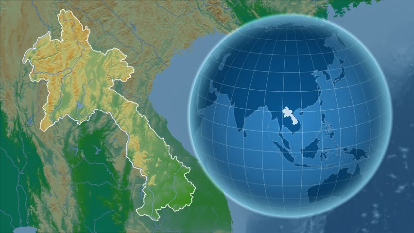 East Timor Shape Animated On The Satellite Map Of The Globe Stock