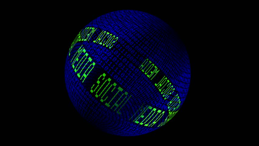 Social media spinning globe