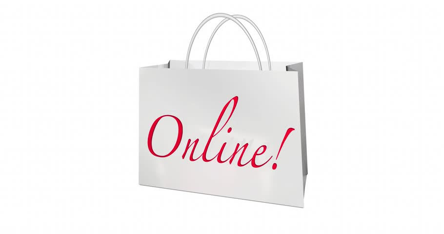 Colored Shopping Bags. White Background Stock Footage Video ...