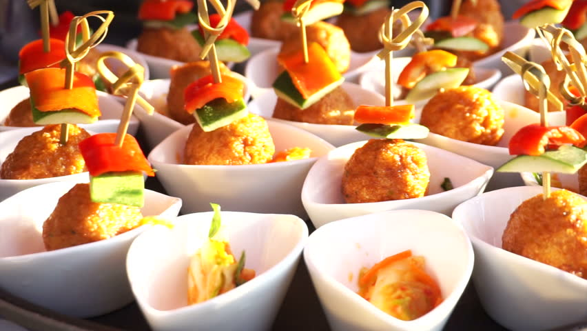 Fish ball finger food catering for cocktail party