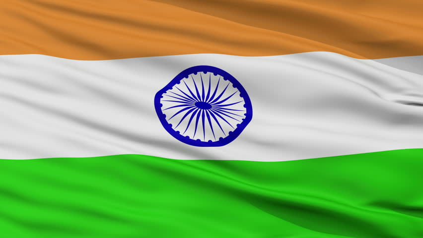 Flower With Indian Flag Hd: Indian Flag HD. Looped. Stock Footage Video 1821566