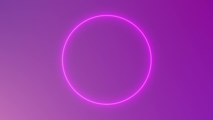 beautiful neon circles 4k - photo #8