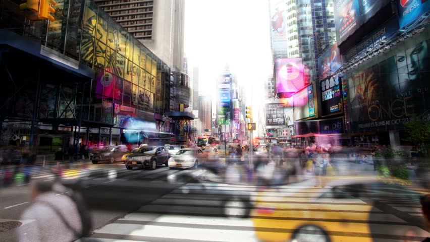 NEW YORK - OCTOBER 4: (Timelapse View) The famous and iconic Times Square, OCTOBER 4, 2011 in New York.  | Shutterstock HD Video #1508114