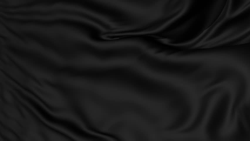 A background texture of soft rippled black fabric textile material,seamless