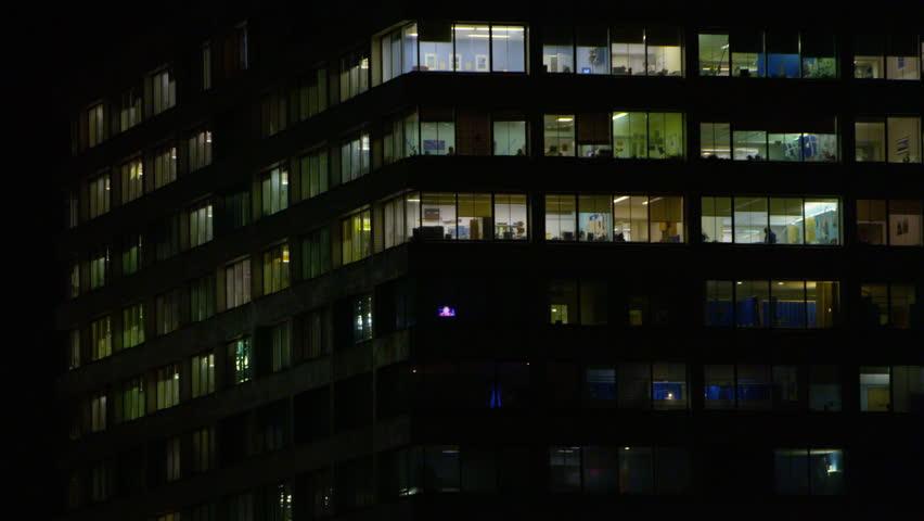 LONDN, JAN 2015: 4K Night time exterior view of large modern city hospital UK -- January, 2015   Shutterstock HD Video #15123232