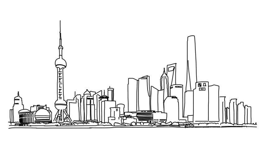 city skyline outline simple - photo #45