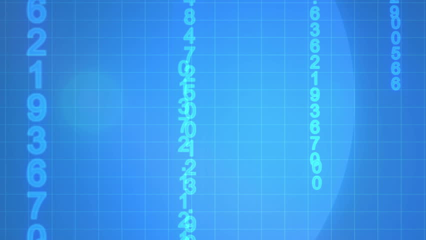 Animated economical data against a blue background