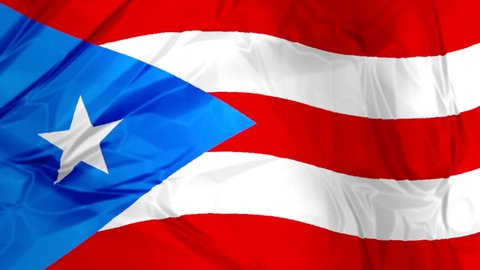 Flag of Puerto Rico 3d Stock Footage