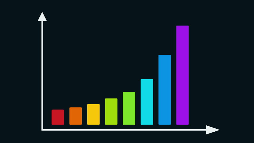 Bar graph chart with arrows axis grow chart business concept bar graph chart with arrows axis grow chart business concept chart animation for yours ccuart Images