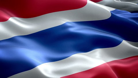 Thailand national flag. (New surge effect)