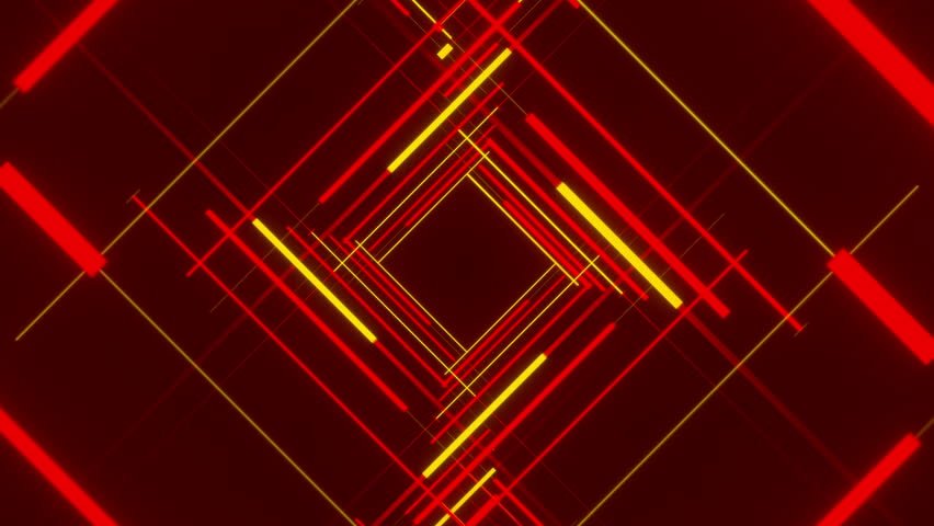 Gold And Red Backgrounds: Red Abstract Background, Moving Red And Gold Line, Loop