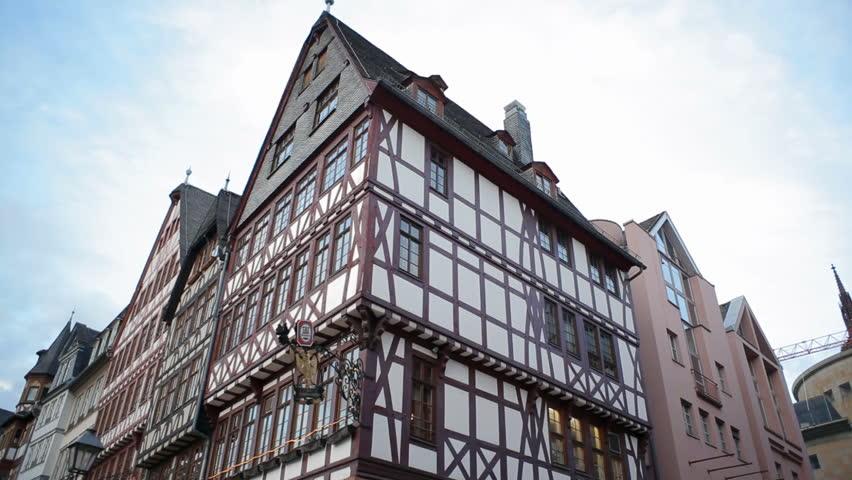GERMANY   CIRCA FEBRUARY 2016   Traditional German Architecture, Rmerberg  Buildings, Frankfurt Main