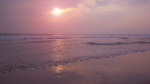 Beautiful sunset at Goa beach 4K