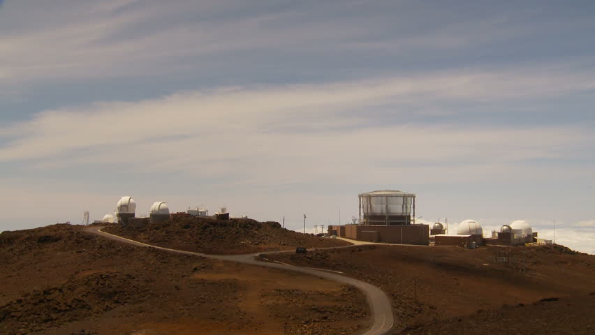 Observatory on top of haleakala volcano crater in maui hawaii island observation domes wide hd stock video clip publicscrutiny Image collections