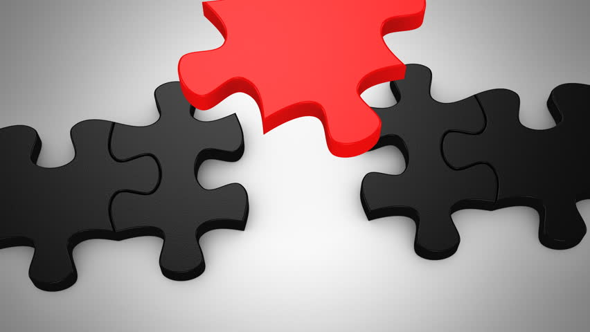 Final Puzzle Piece Falls Into Place Stock Footage Video ...