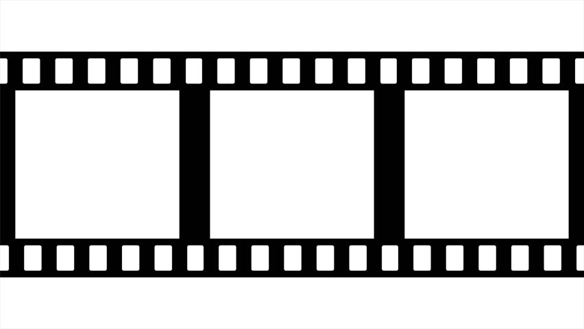 Film Strip Moveing On Green Background. Seamless Loopable Video ...