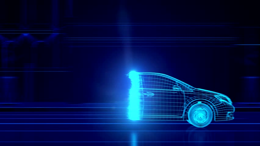 City car Wireframe View - conceptual   Shutterstock HD Video #15428878