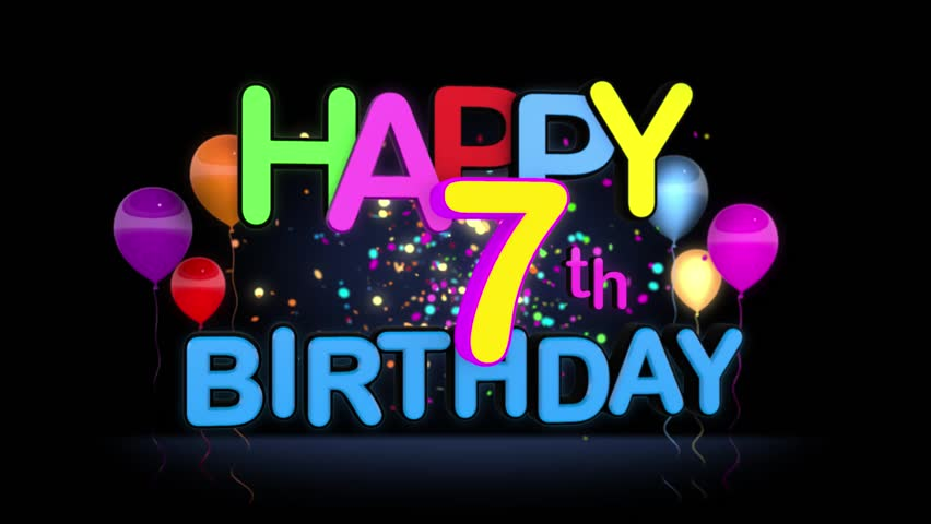 Happy 7th Birthday Title Seamless Stock Footage Video (100 ... (852 x 480 Pixel)