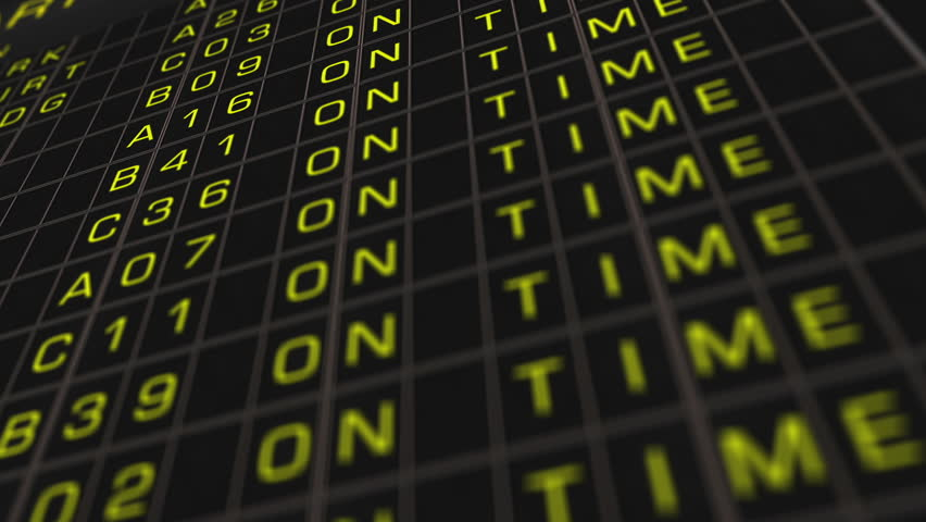Stock Video Of Airport Timetable All Flights Get Canceled