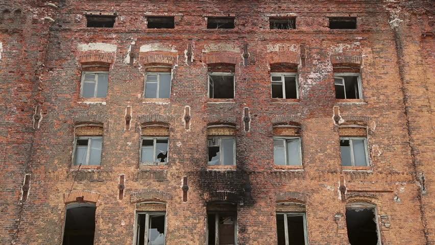 samara samara regionrussia march 24 the windows of the old multi storey of the burned brick house on march 24 2016 in samara stock footage video - Brick House 2016