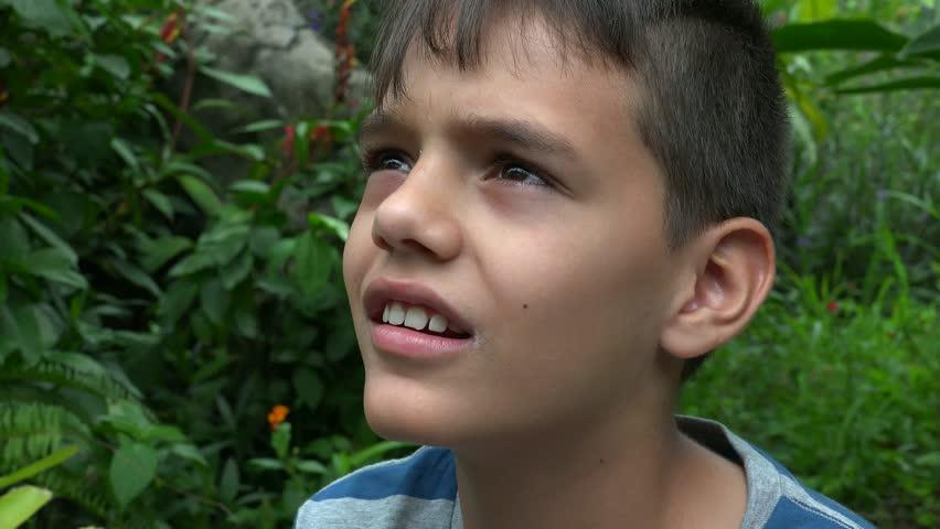 Little Boy Playing Bubble In The Garden Asian Mix Arabic -6660