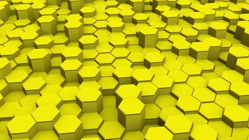 hexagons blocks moving up and down 3d render loop full hd stock footage video 15575785