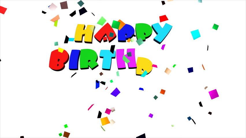 Happy Birthday 2D Cute Animation Greeting Card Footage Video – Happy Birthday Video Greeting Cards