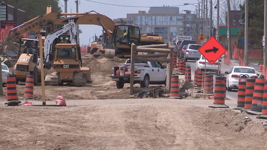 Kitchener, Ontario, Canada June 2015 Summer Road Construction In ...